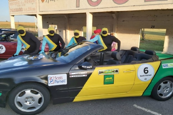 Witham team's road-trip  rally raises £7,645 for charity